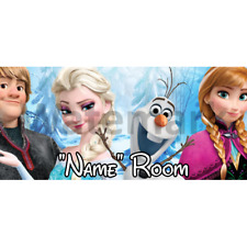 Disney Frozen Personalised Bedroom Door Sign - Any Name/Text (F4)