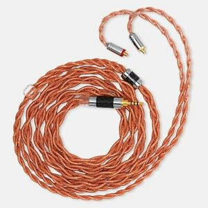 LINSOUL LSC09 , IEM HiFi Upgrade Cable 4 Core Single Crystal Copper Silver Plate