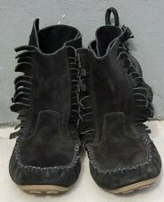 J Crew Boots Womens Sz 8  Leather Suede Fringe Boho Boots