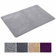 Soft Microfiber Grey Bathroom Rug Non Slip Bath Rugs Water Absorbent Bath Mat