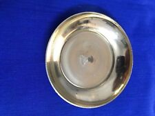 Small Brass Plate 6.5cm Round x 1cm Height All Religious Use Temple Home Diwali