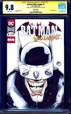 Batman Who Laughs #1 BLANK CGC SS 9.8 ORIGINAL SKETCH by Greg Kirkpatrick NM/MT