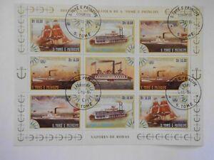 S. TOME und PRINZIPE Schiffe Klbg.920 - 23  gestempelt (Lot 2150)