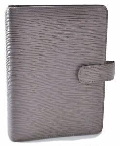 Authentic Louis Vuitton Epi Agenda MM Day Planner Cover Gray LV C3190