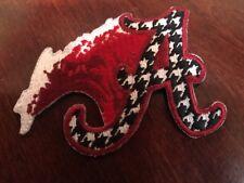 "Alabama Crimson Tide Vintage Embroidered Iron On Patch (NOS) 3"" x 2.5"