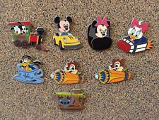 Disney Baby Characters In Vehicles Complete Set Pin Lot Stitch Chip Dale Pluto