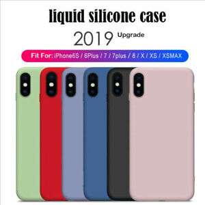 for iPhone 12, 12 Pro Max Case Liquid Silicone Shockproof Rubber Gel Phone Cover