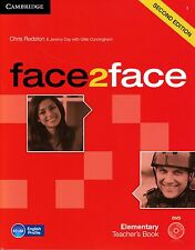 Cambridge FACE2FACE ELEMENTARY Second Edition Teacher's Book with DVD @BRAND NEW