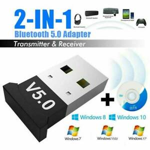 USB Bluetooth V5.0 CSR Wireless Mini Dongle Adapter For Win7 8 10 PC Laptop UK