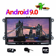 """9"""" Android 9.0 For VW Passat Golf Touran Eos Polo Seat Car Stereo GPS DAB+BT UK"""