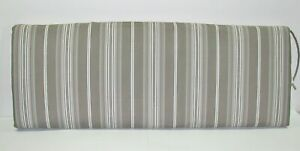 Better Homes & Gardens Outdoor Bench Cushion ~ Gray Taupe Stripe 17 x 46 x 3 NEW