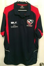 BLK Fly Emirates TEAM USA United States RUGBY JERSEY Polo Shirt Size Men's 2XL