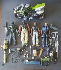 "GI Joe 8"" Sigma 6 LOT Duke Snake Eyes Heavy Duty Iron-Knife Ninja Hovercycle"