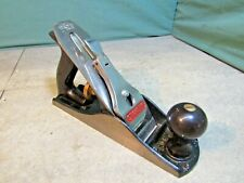 Stanley Bailey No 4 smoothing plane. Woodworking tools, used. G12-004
