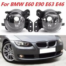 2Pcs Front Fog Lights Lamps Clear Housing For BMW E60 E90 E63 E46 323i 325i 525i