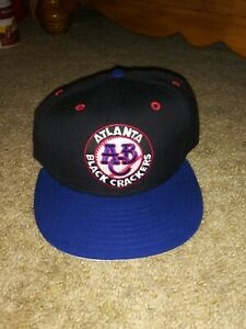 New Era Atlanta black crackers Negro League Fitted Cap 7 1/2 NWOT!
