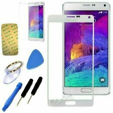 White Outer Front Replacement Glass Screen Lens For Samsung Galaxy Note 4 N910