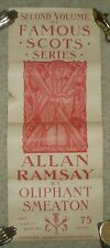 RARE, ANTIQUE 1896 ORIGINAL POSTER, ALLAN RAMSAY OLIPHANT SMEATON, BOOK STORE AD