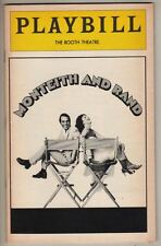 """""""Monteith And Rand""""  Playbill   Broadway  1979   Booth Theatre"""