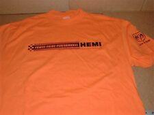 Dodge Hemi Performance NEW orange Large t-shirt Mopar Muscle Car distress print