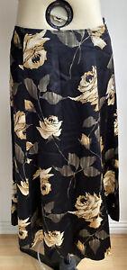 LK Bennett 100% silk skirt - UK Size 10 - Black and Gold