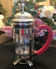 Starbucks French Press Coffee Maker Stainless Steel Glass 12 Oz Used