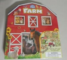 Let's Explore Farm  Book, Diarama, Plastic Animals, 3D Models and Stickers. NIB