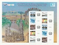 UN UNO United Nations Vienna 2008 WIPA Stamp Show Personalized Sheet