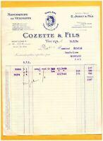 """TOURS (37) USINE de CONFECTION / MODE """"E. JOBET / COZETTE & Fils Succ."""" en 1926"""