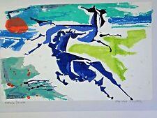 "Miriam Haworth serigraph ""Marsh Ponies"" signed in pencil INV 2642"
