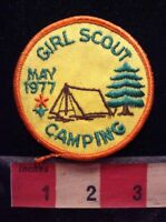 Vintage Retro 1977 Girl Scout Camping Patch 75YJ