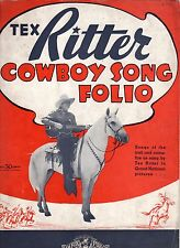 Tex Ritter - Cowboy Song Folio 1937 / Music Sheet
