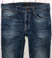 Mens NUDIE Tilted Tor Jeans W31 L30 Blue Stretch Skinny Fit
