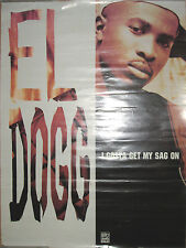 El Dogg Get My Sag On, original promotional poster, 1994, 18x24, rap, hip-hop