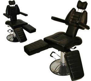 InkBed Adjustable Tattoo Reclining Hydraulic Ink Chair Salon Studio Equipment