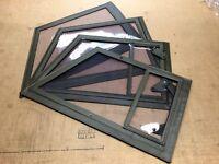 Kübel Steckfenster Satz 4 Stck. NEU Oliv Grün VW 181 Einsteckfenster Fenster