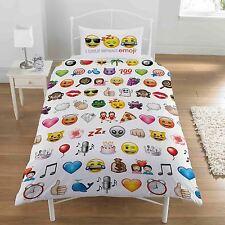 Emoji Multi Funda de almohada y Edredón Individual Juego Dormitorio para niños