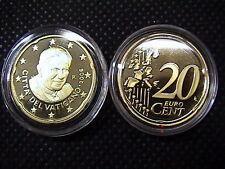 VATICANO euro 2006 MONETA CENT 20 eurocent FONDO a SPECCHIO PROOF FS PP BE