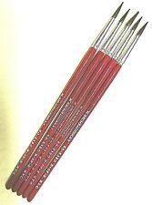 Vintage New Artist Paint Brushes Set Of 5 M.Grumbacher N.Y. C.