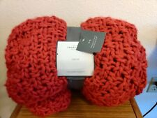 Threshold Acrylic Chunky Knit Throw Couch Blanket Red New NWT Target Home