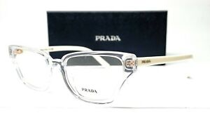 PRADA VPR 04X 2AZ-1O1 Crystal Demo Lens Women's Eyeglasses 54mm