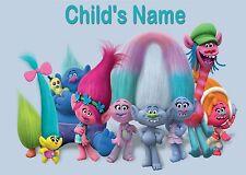 Childrens / Kids A4 Trolls Dinner Mat / Place Mat. Personalised