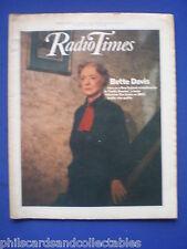 Radio Times - Bette Davis   26th June  1982