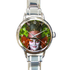 Hilarious Alice in Wonderland Watch Johnny Depp Italian Charm Watch Bracelet