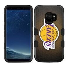 Samsung Galaxy S9 Rugged Impact Hard Hybrid Case Los Angeles Lakers #BRNT