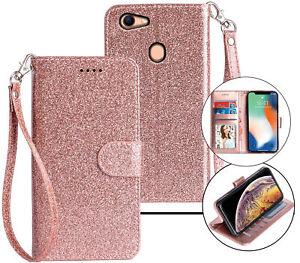 Oppo A73 Wallet Case Glitter