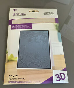 """Gemini 5"""" X 7"""" 3d Embossing Folder Gossamer Lace By Crafters Companion"""
