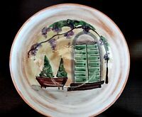 Beautiful Large Handpainted Pasta/Salad Bowl Italian Made Window Grapes & Vine