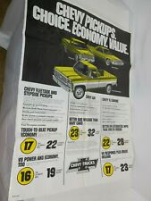 "1979 Chevrolet poster ad Chevy MPG El Camino Luv pickup dealer showroom 42""X32"""