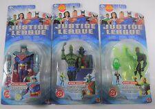 JUSTICE LEAGUE ANIMATED SERIES X3 ATTACK ARMOR SUPERMAN GREEN LANTERN MANHUNTER